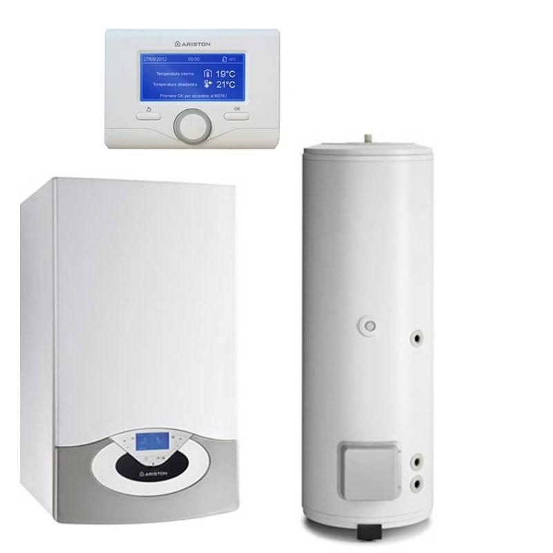 Poza Pachet centrala termica Ariston Genus Premium EVO HP 45 EU cu boiler indirect cu o serpentina BC1S 300 litri. Poza 10250