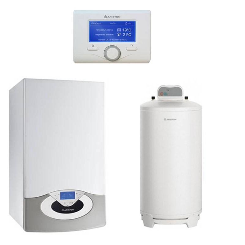 Poza Pachet centrala termica Ariston Genus Premium EVO HP 65 EU 65 kw cu boiler cu o serpentina BCH 200 litri. Poza 10254