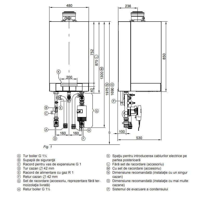 Poza Centrala termica in condensare Viessmann Vitodens 200-W,Vitotronic 100 HC1B 80 KW. Poza 10312
