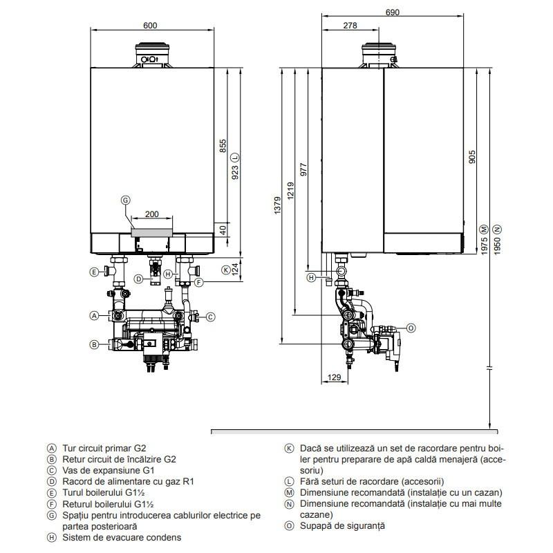 Poza Centrala termica in condensare Viessmann Vitodens 200-W, Vitotronic 100 HC1B 150 KW. Poza 10336