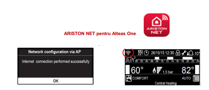 Poza Conectivitate centrala termica in condensare Ariston Alteas One Net