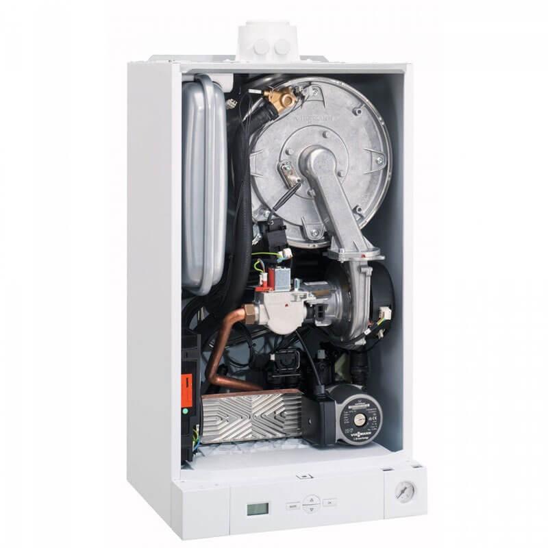 Poza Centrala termica Viessmann Vitodens 050 W 24 kW, condensatie, cu functionare pe GPL, regulator de GPL si racord flexibil. Poza 14623