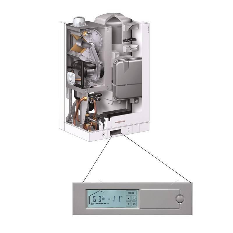 Poza Centrala termica in condensare cu touchscreen Viessmann Vitodens 111 W 26 kW B1LD162. Poza 14763