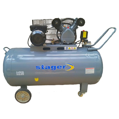 Poza Compresor aer Stager HM-V-0.25/250 250 litri 8 bari. Poza 15474