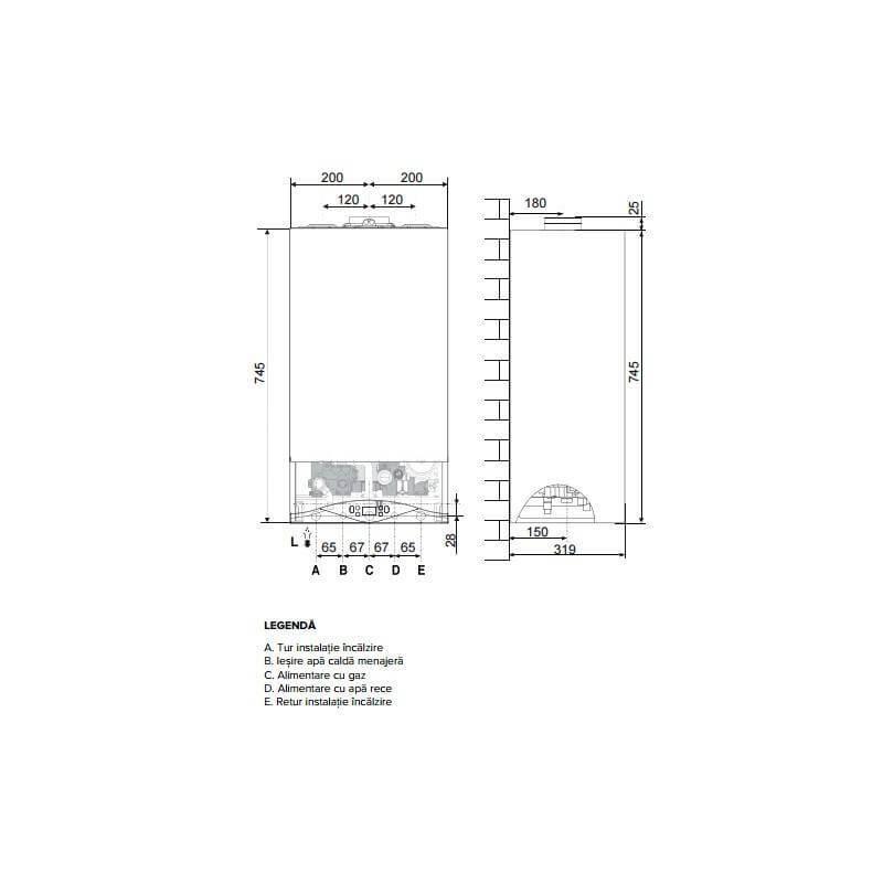 Poza Centrala termica in condensare Ariston CARES PREMIUM 24 EU 24 KW. Poza 13504