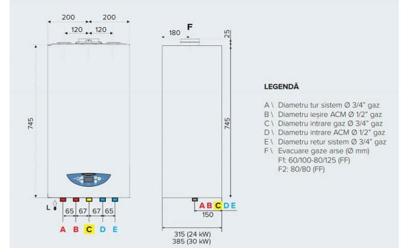 Centrala termica in condensare Ariston Matis Condens Plus 24. Poza 16224