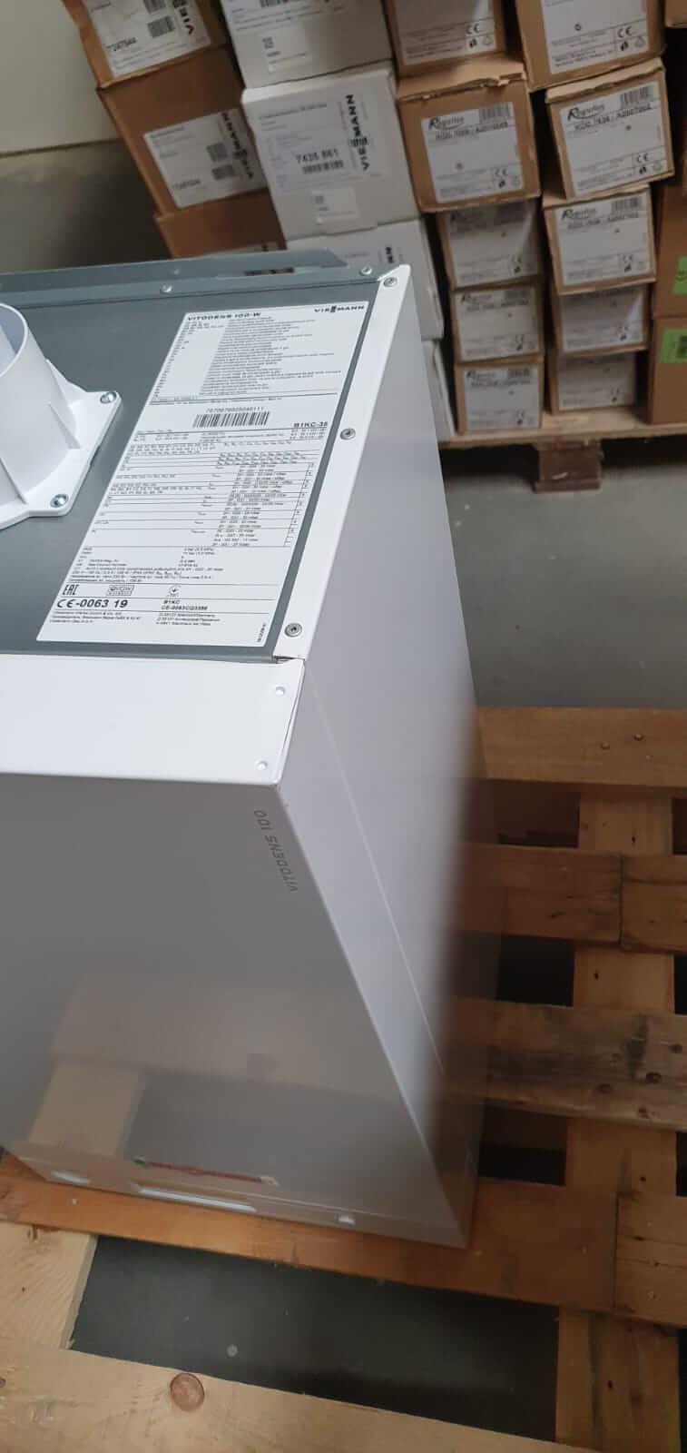 Poza Centrala termica in condensare cu touchscreen Viessmann Vitodens 100-W 35 kw combi B1KC157 resigilat. Poza 17008