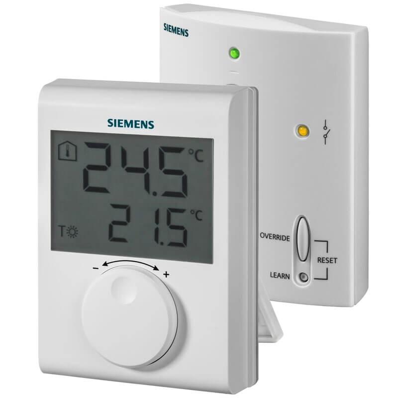 Poza Termostat digital neprogramabil fara fir Siemens RDH100RF Set. Poza 15132