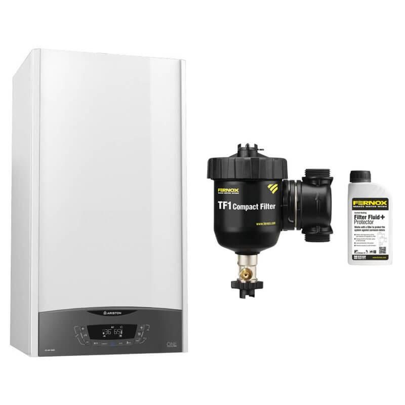 Poza Centrala termica in condensare Ariston Clas One 24 EU 24 KW cu filtru antimagnetita TF1. Poza 17275