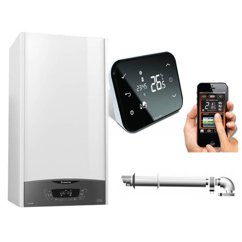 Poza Centrala termica in condensare Ariston Clas One 35 KW cu termosta ambient Salus IT500 control prin internet. Poza 17676