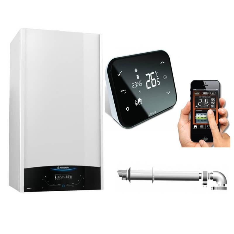 Poza Centrala termica in condensare Ariston Genus One 30 kW cu termostat Salus IT500 control prin internet. Poza 17685