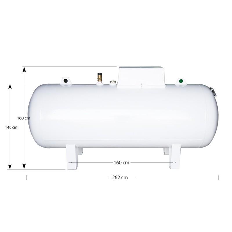 Rezervor/Bazin GPL suprateran 2700 litri Tanky Gas, echipat complet fabricat in Grecia. Poza 18567