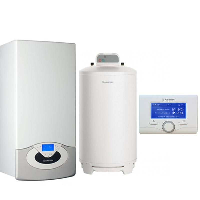 Poza Pachet centrala termica in condensare Ariston Genus Premium System Evo 30 EU 30 kw cu boiler BCH 200 litri