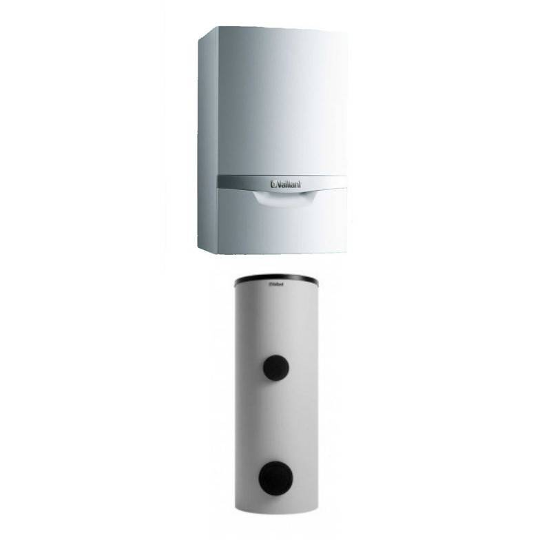 Poza Pachet centrala termica in condensare Vaillant VU OE 466/4-5 + boiler solar 300 litri