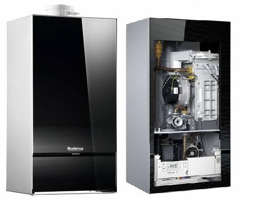 Structura interna centrala termica in condensatie Buderus Logamax Plus GB 172i System - 35 kW negru