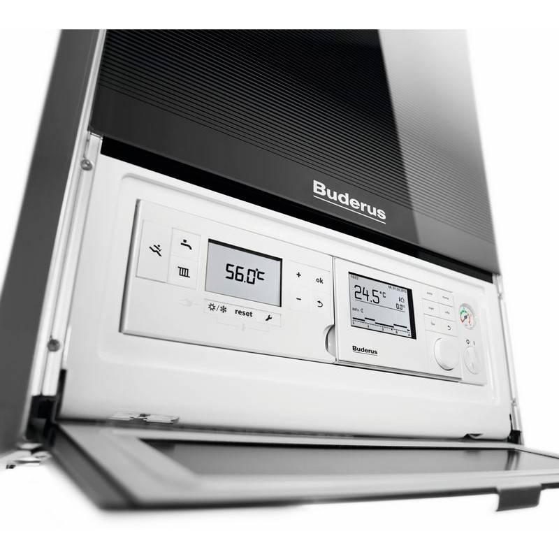 Display centrala termica in condensatie Buderus Logamax Plus GB 172 IK - 35 kW negru
