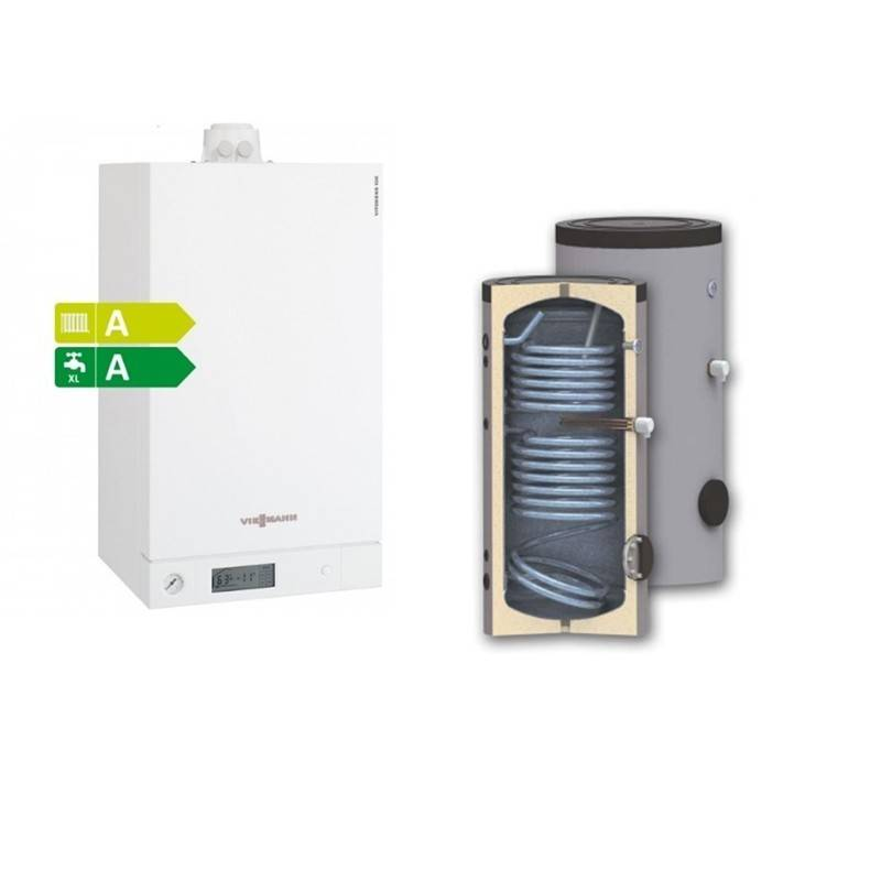 Poza Pachet centrala termica Viessmann Vitodens 35 kw cu boiler bivalent Woody SON 300 Solar Ready