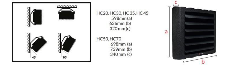 Aeroterma pe apa Reventon HC20-3S. Poza 7239