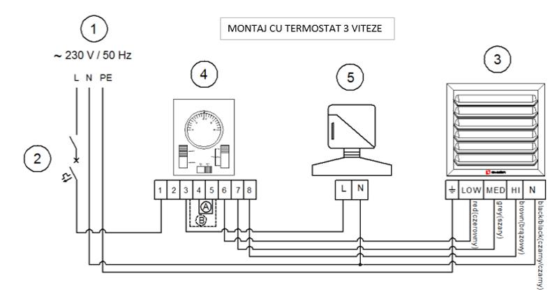 Imagini pentru schema montaj termostat 3 trepte reventon