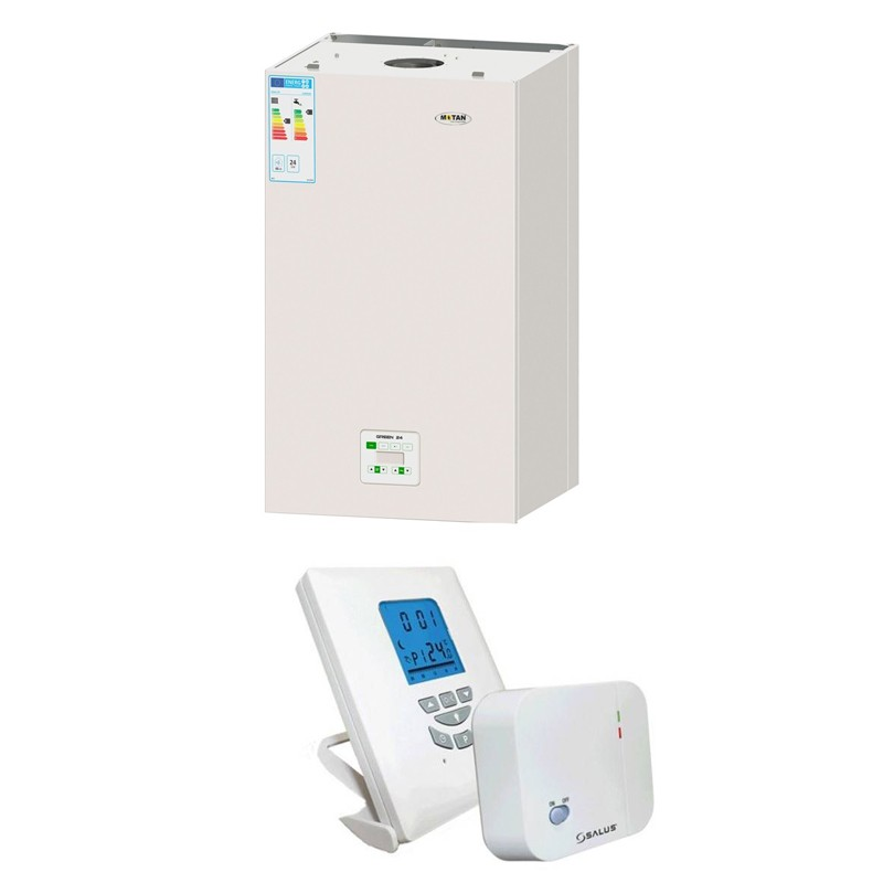 Poza Centrala termica cu condensatie cu termostat wireless T105RF Motan Green 24. Poza 7979