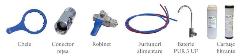 Filtru apa potabila in 3 trepte cu ultrafiltrare Valrom PUR 3 UF. Poza 8018