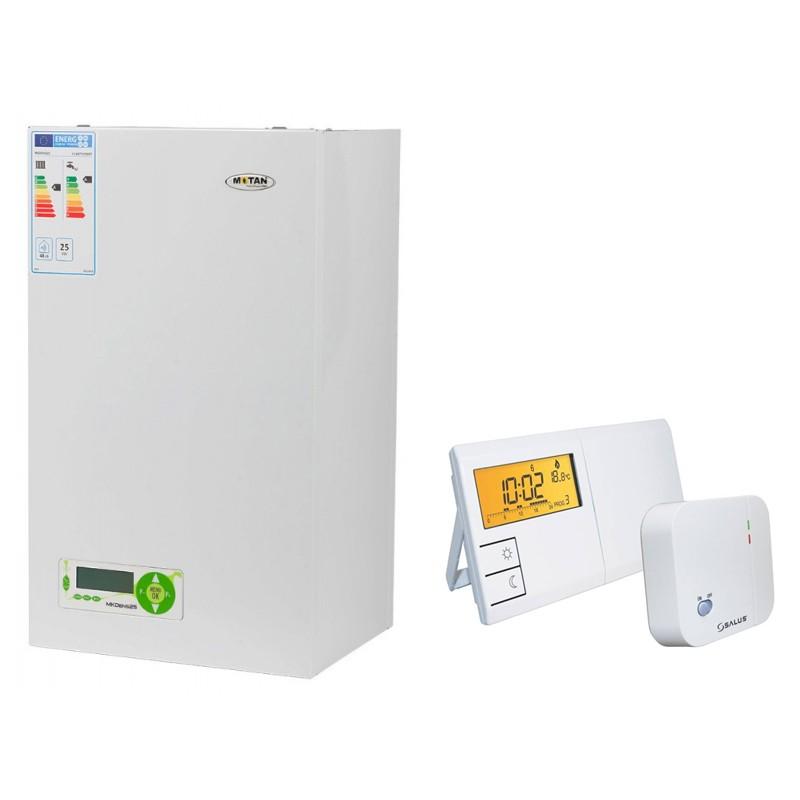 Poza Pachet centrala termica in condensatie cu tiraj fortat Motan MkDens 25 Erp - 25 kW + cronotermostat de ambient Salus 091FLRF