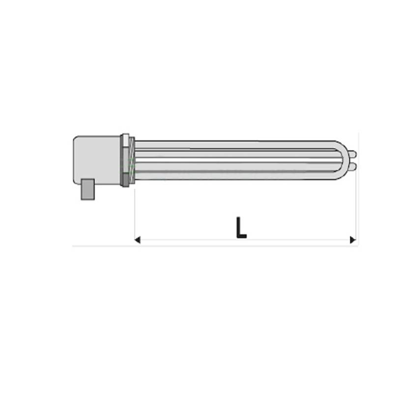 Poza Rezistenta electrica cu termostat pentru boiler indirect Woody - 3 x 7.5 kw