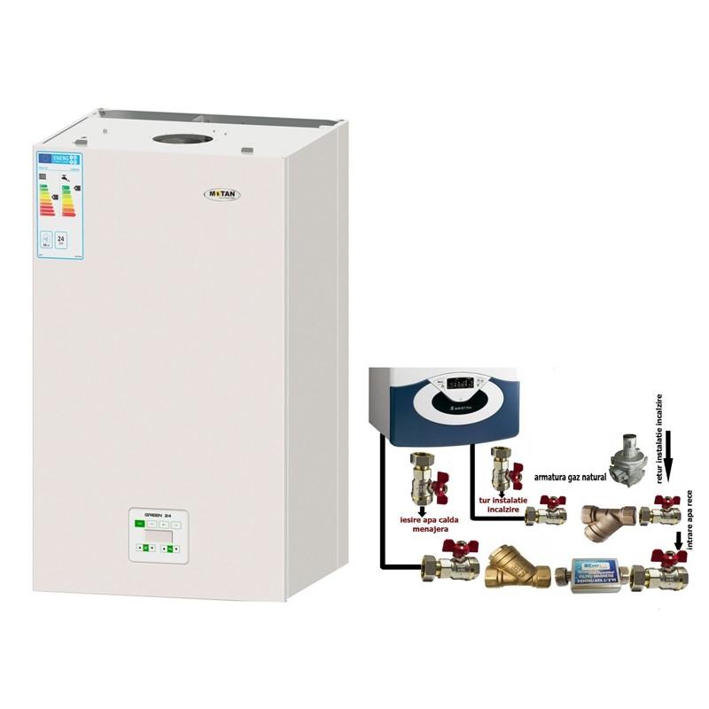 Poza Pachet centrala termica cu condensatie Motan Green 28 + pachet instalare centrala termica