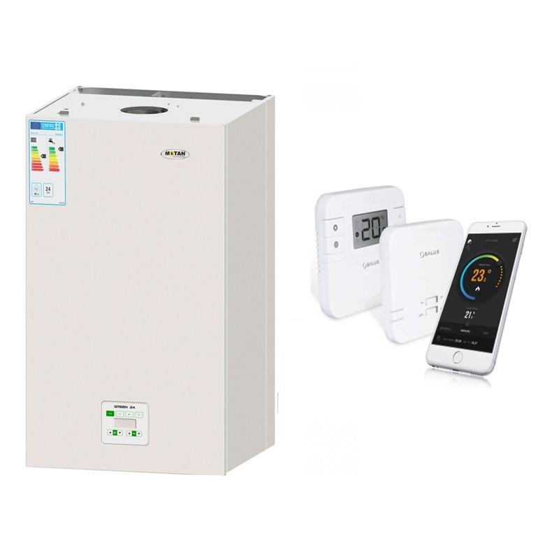 Poza Centrala termica Motan Green 24  cu termostat cu control prin internet Salus RT310i. Poza 9886