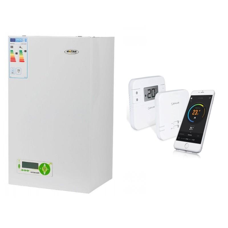 Poza Centrala termica Motan MkDens 25 Erp - 25 kW cu termostat cu control prin internet Salus RT310i. Poza 9894