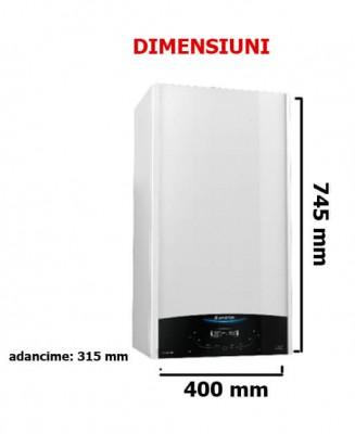 Poza Centrala termica Ariston Clas One 24 KW, condensatie, cu functionare pe GPL, regulator de GPL si racord flexibil. Poza 14324