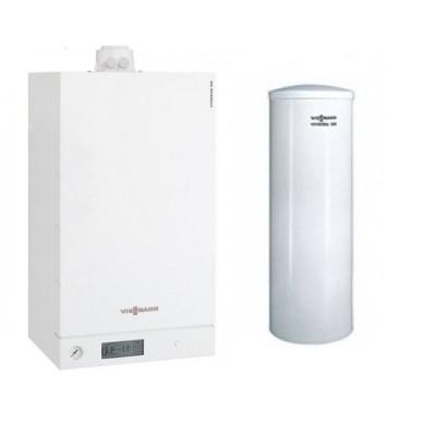 Poza Pachet centrala termica Viessmann Vitodens 100-W 35 kw cu boiler monovalent Vitocell 100-W 200 litri B1HC404. Poza 15586