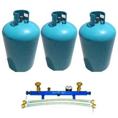Poza Pachet 3 butelii de GPL cu centralina pentru alimentarea centralelor termice 186 kg. Poza 17123