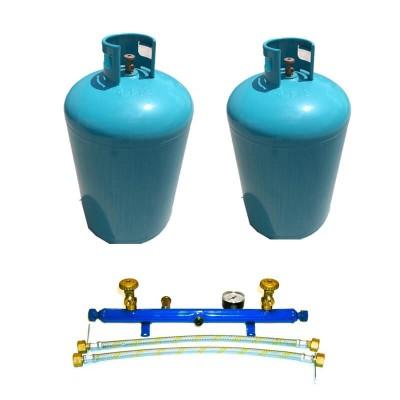 Poza Pachet 2 butelii de GPL cu centralina pentru alimentarea centralelor termice 124 kg. Poza 17124