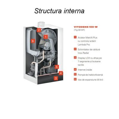 Poza Centrala termica in condensatie Viessmann Vitodens 100-W B1HF 25 kW - numai incalzire. Poza 17970