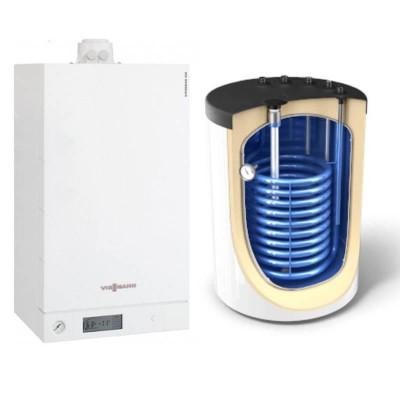 Poza Centrala termica Viessmann Vitodens 100-W 35 kw B1HC179 numai incalzire, condensatie, boiler Tesy 120 litri. Poza 18264