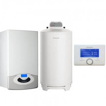 Poza Pachet centrala termica in condensare Ariston Genus Premium System Evo 24 EU 24 kw cu boiler BCH 200 litri