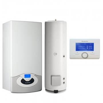Poza Pachet centrala termica in condensare Ariston Genus Premium System Evo 30 EU 30 kw cu boiler BC1S 300 litri