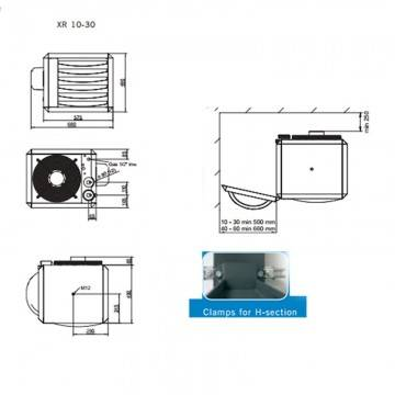 Poza Amplasare aeroterma pe gaz Winterwarm XR20 - 20.80 kW