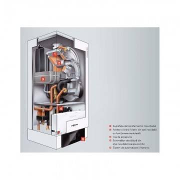 Poza Structura interna centrala termica in condensare Viessmann Vitodens 200-W 35 kW