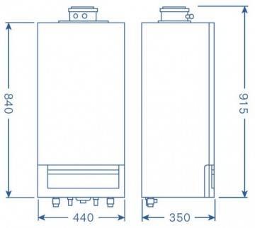 Poza Dimensiuni centrala termica in condensatie Buderus Logamax Plus GB 172i System - 35 kW negru
