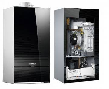 Poza Componenta centrala termica in condensatie Buderus Logamax Plus GB 172 IK - 35 kW negru