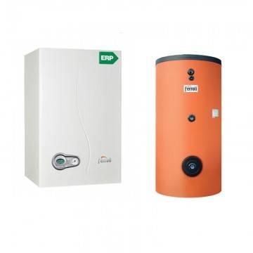Poza Pachet centrala termica Ferroli Bluehelix 35 kw cu boiler bivalent Ecounit 300 litri