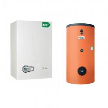 Poza Pachet centrala termica Ferroli Bluehelix 25 kw cu boiler monovalent Ecounit 150 litri