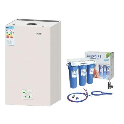 Poza Pachet centrala termica cu condensatie Motan Green 24 + filtru de apa potabila Valrom PUR 3 UF