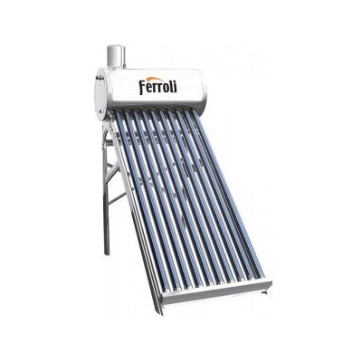 Poza Panou solar nepresurizat cu boiler inox 120 litri si flotor Ferroli Ecosole JDL-TF12-58/1.8-SS