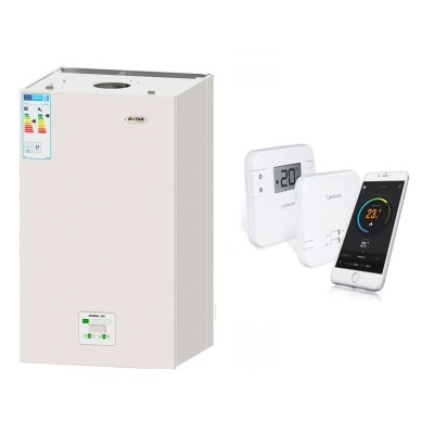 Poza Centrala termica Motan Green 28 cu termostat cu control prin internet Salus RT310i. Poza 9888