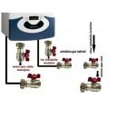 Pachet baza robineti pentru instalare centrala termica murala