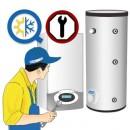 Montaj camera tehnica centrala termica pe gaz cu putere 45 - 100 kW cu boiler indirect