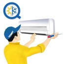 Montaj aer conditionat tip split putere 18000 pana la 24000 Btu/h cu kit frigorific furnizat de producator